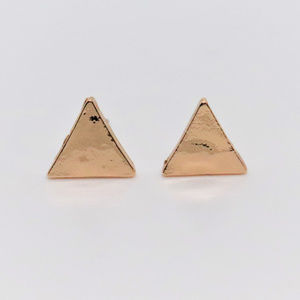 Triangle Rose Gold Plated Earrings
